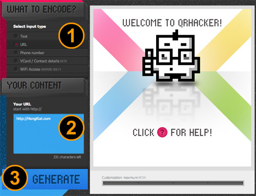 crer un code QR customis