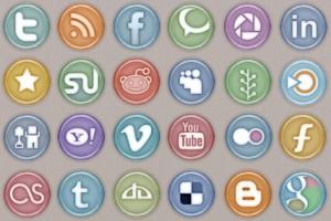 icônes pour les réseaux sociaux