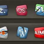 Des icônes originaux de réseaux sociaux