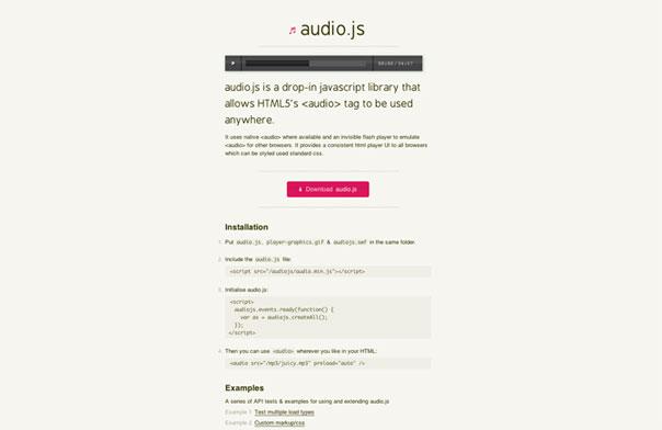 lecteur audio html5