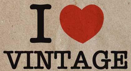 typographie vintage et retro