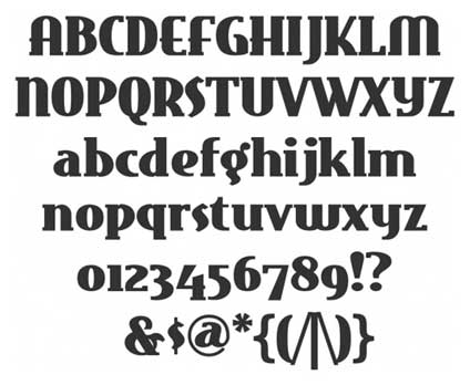 typographie retro