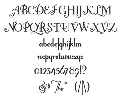 typographie vintage