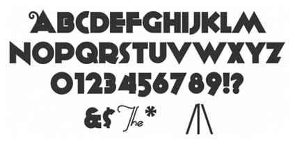 typographie retro et vintage