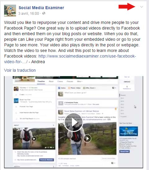 integrer video facebook
